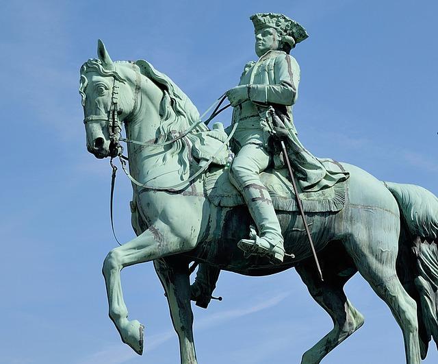 Sculpture, Rider With Horse, Braunschweig