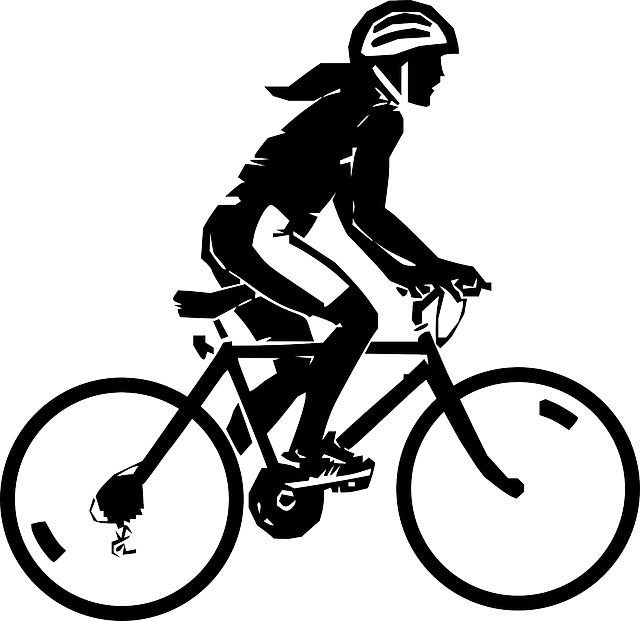 Woman, Riding, Bicycle, Sport, Cycle, Helmet, Rider