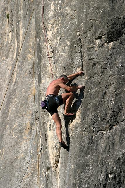 Rock Climbing, Altmühl Valley, Riedenburg, Mountaineer
