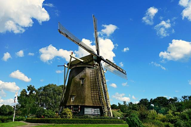 Windmill, Mill, Dutch Windmill, Historic, Riekermolen