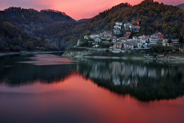 Rieti, Italy, Village, Town, Buildings, Architecture
