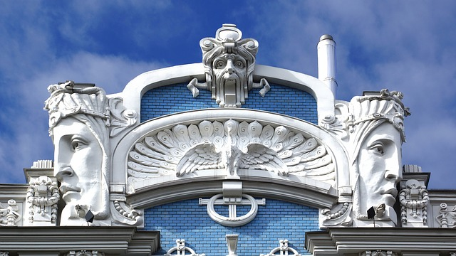 Riga, Housewife, Art Nouveau, Architecture, Playfulness