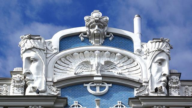 Riga, Housewife, Art Nouveau, Architecture, Playfulness