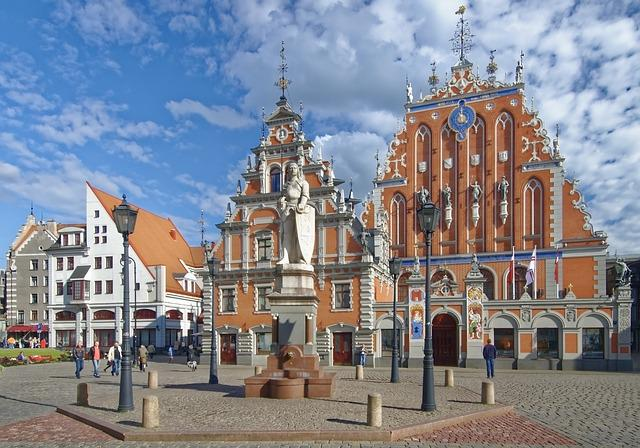 Latvia, Riga, Town Hall Square, House Of The Blackheads
