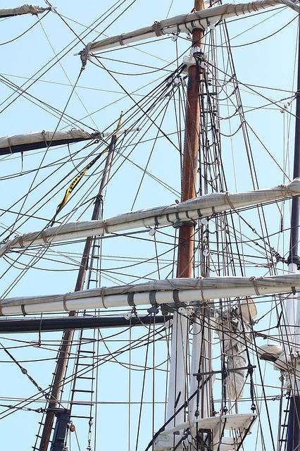 Ship, Sail, Rigging, Mast, Dana, Point, California