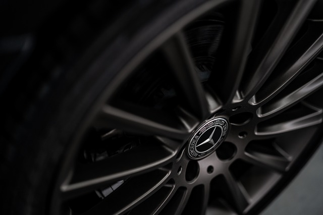 Car, Benz, Mercedes, Rim, Tyre, Black, Chrome, Dark