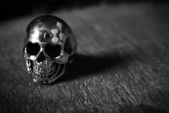 Crane, Scull, Ring, Wood, Death's Head, Skull