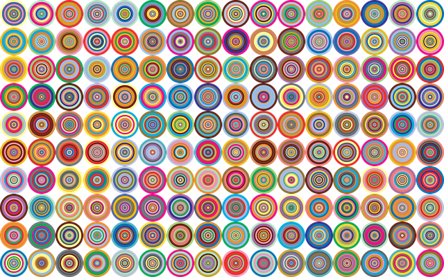 Decorative, Ornamental, Concentric, Circles, Rings