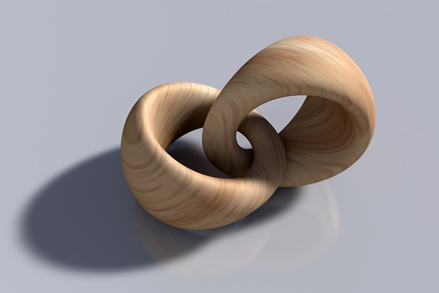 Rings, Wooden Rings, Intertwined, Interconnected