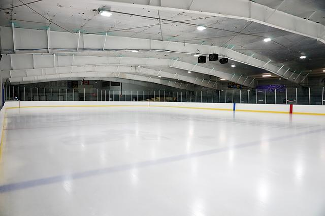 Indoors, Empty, Hockey, Rink, Arena, Ceiling, Modern