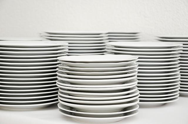 Plate, Stack, Tableware, Plate Stack, White, Rinse