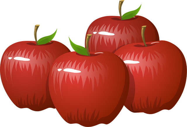 Apples, Fruit, Food, Healthy, Organic, Fresh, Ripe, Red