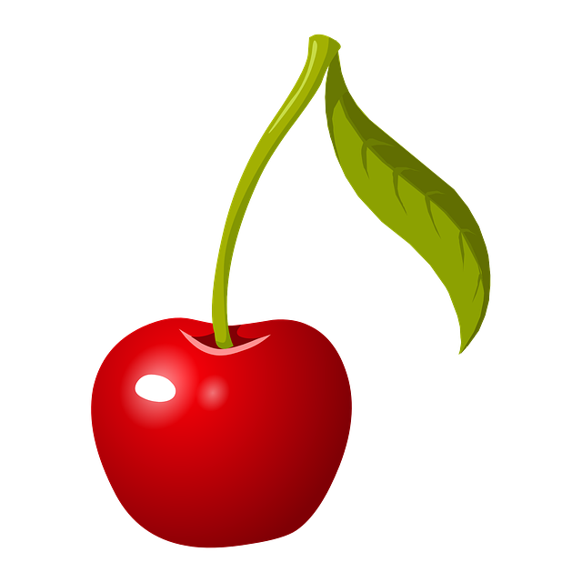 Cherry, Stem, Fruit, Red, Ripe, Fresh, Healthy, Organic