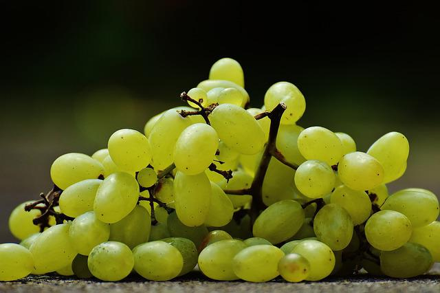 Grapes, Plate, Fruit, Healthy, Eat, Food, Ripe