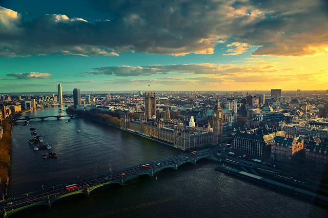 Thames, London, River, Uk, City, Cityscape, Aerial View