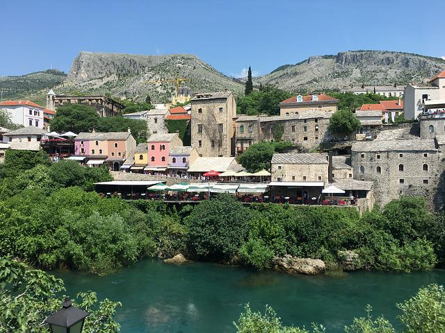 Mostar, River, Bosnia, Islam, Moslem, Architecture