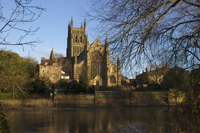 Worcester, Cathedral, Architecture, River, Water