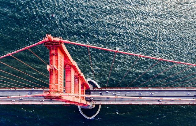 Bridge, Cars, Golden Gate Bridge, River, Road