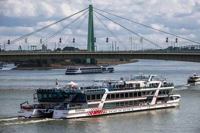 Bridge, River, Ship, River Navigation
