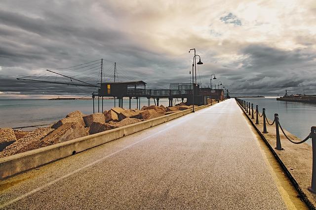 Sea, River, Porto, Channel, Pier, Water, Nature, Sky