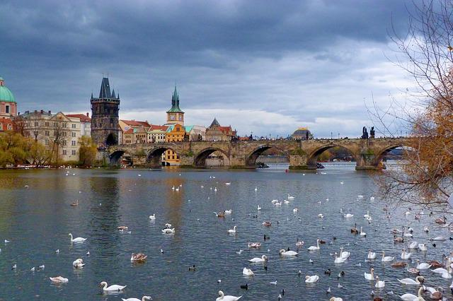 Prague, Charles Bridge, River, Bridge, City