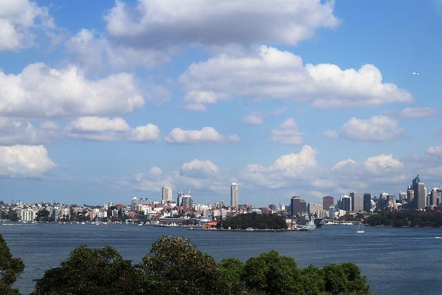 Sydney, Sky, Cloud, Australia, City, River, Travel