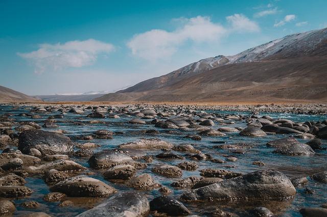 Stones, River, Current, Water, Landscape