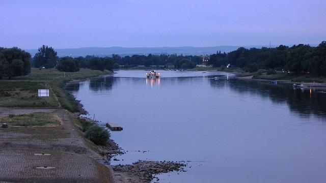 Dresden, Elbe, River, Bridge Blue Wonder, Steamer