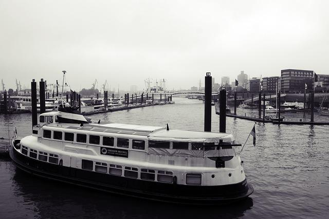 Waters, Transport System, Ship, Sea, River, Hamburg