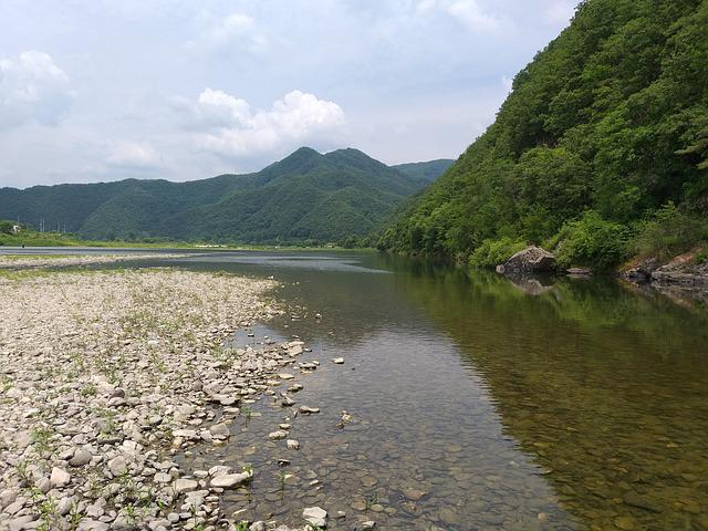 River, Mountain, Landscape, Nature, Water, Wood, Valley