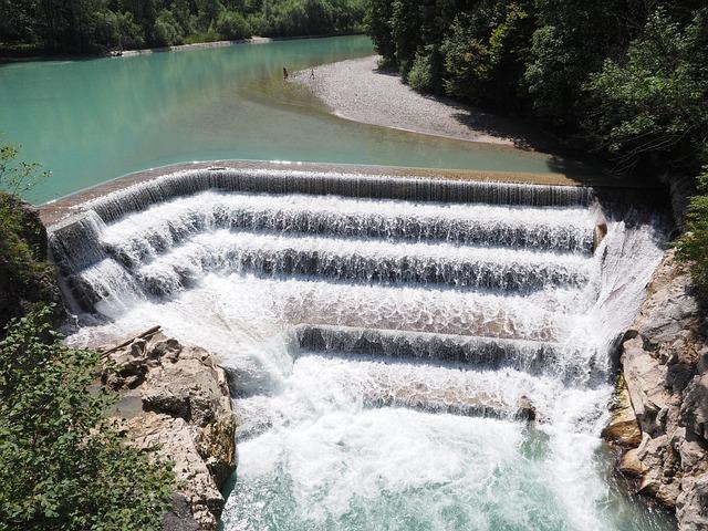 Lechfall, Weir, Lech, Füssen, Waterfall, Water, River