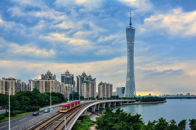 Canton, Pearl River, Pearl, River, City, Travel, Modern