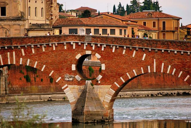 Stone Bridge, Verona, Adige, River, Monument, Ancient