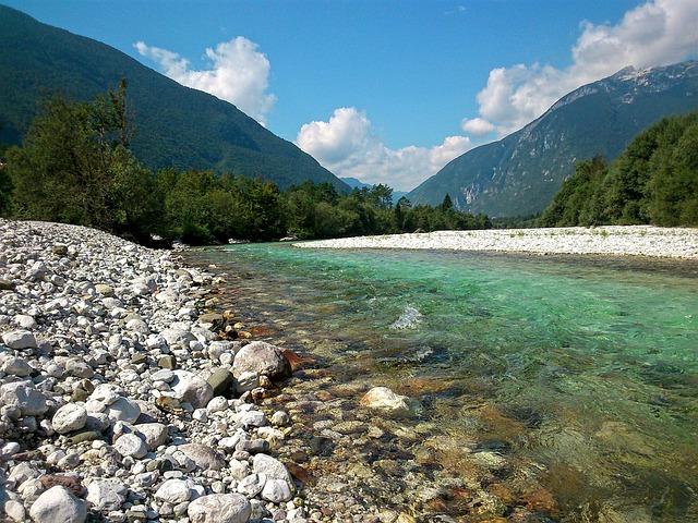 River, Natur, Water, Environment, Outdoor, Soča