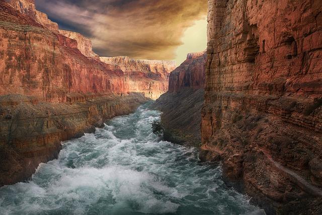 Mountains, River, Landscape, Cannon, Nature, Scenic