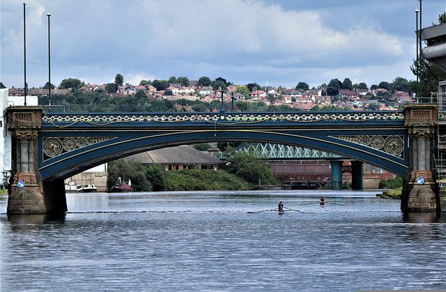 River, Water, City, Steel, Beauty, England, Nottingham