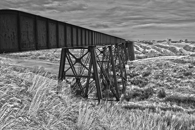 Viaduct, Bridge, Landscape, Railway, Engineering, River