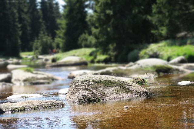 Rock, Stone, River, Poland