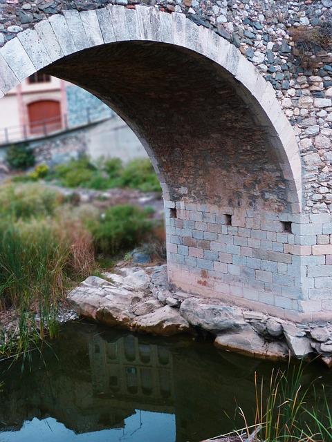 Bridge, Arc, Romanesque, River
