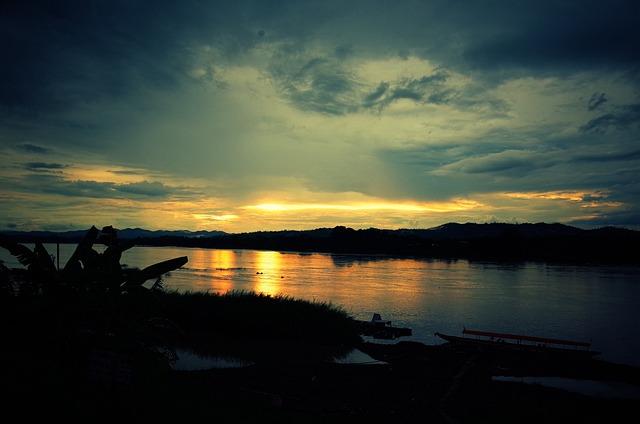 River, Sunset, The Evening Sun