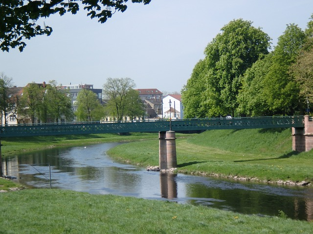 Rastatt, Murg, River, Dam, Murg Valley, Town