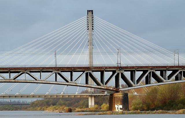 Bridge, River, The Viaduct, Railway, Warsaw, Wisla