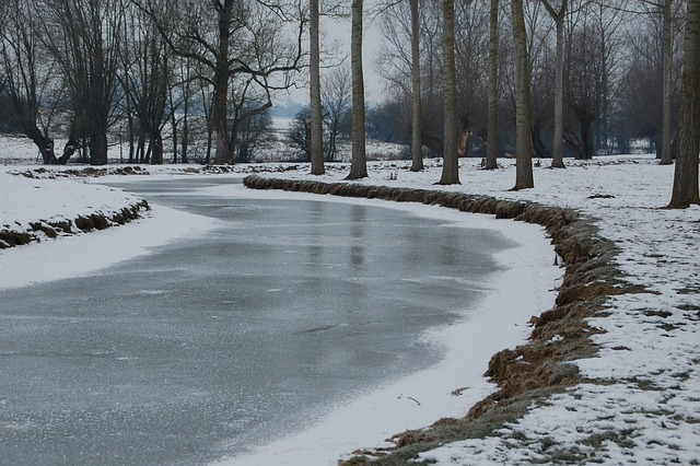 Frozen River, River, Nature, Water Courses, Gel, Winter
