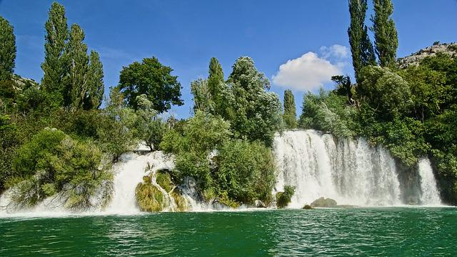 Waterfall, Croatia, National Park, Waters, River