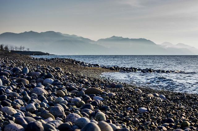 Gravel, Beach, Fog, Cloud, Rize, çayeli, Stone, Kennedy