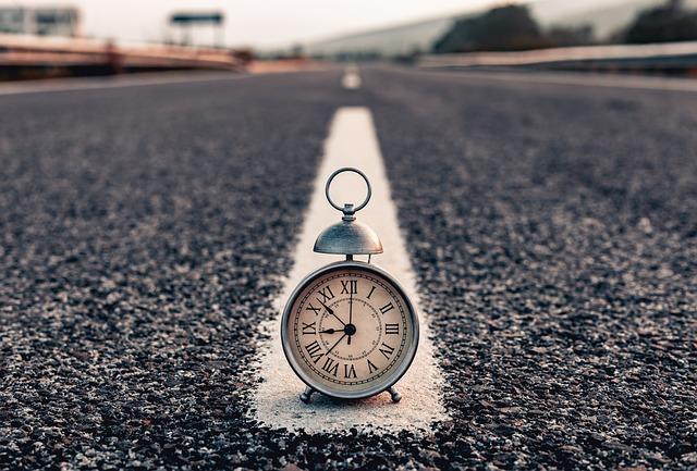 Clock, Street, Morning, Time, Watch, Road, Asphalt