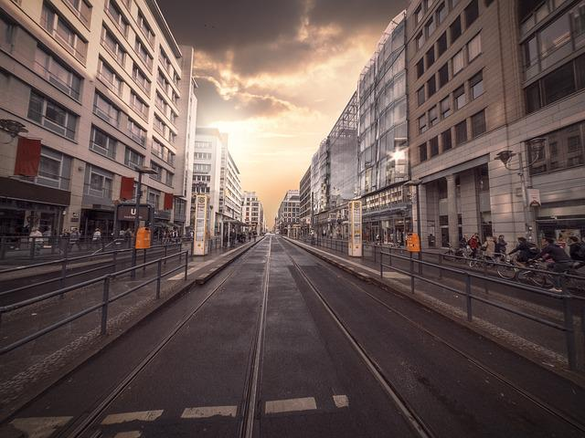 Berlin, City, Road, Homes, Light, Composing, Capital