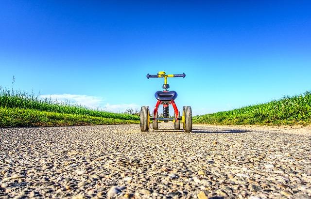 Children Toys, Bike, Impeller, Small, Away, Road, Walk