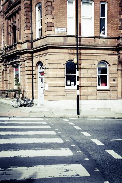 Crosswalk, Crossing, Road, Architecture, Transition