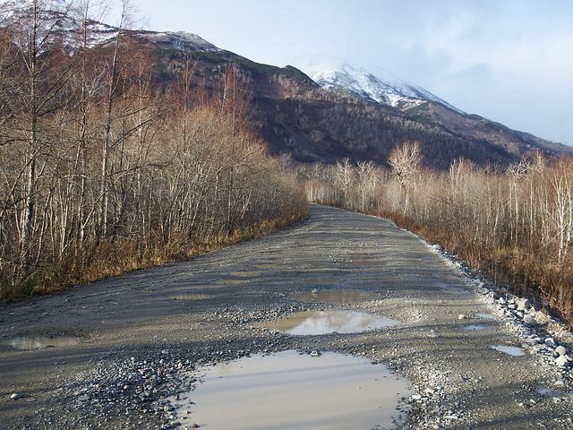 Road, Puddles, Late Autumn, Dirt, The Roads